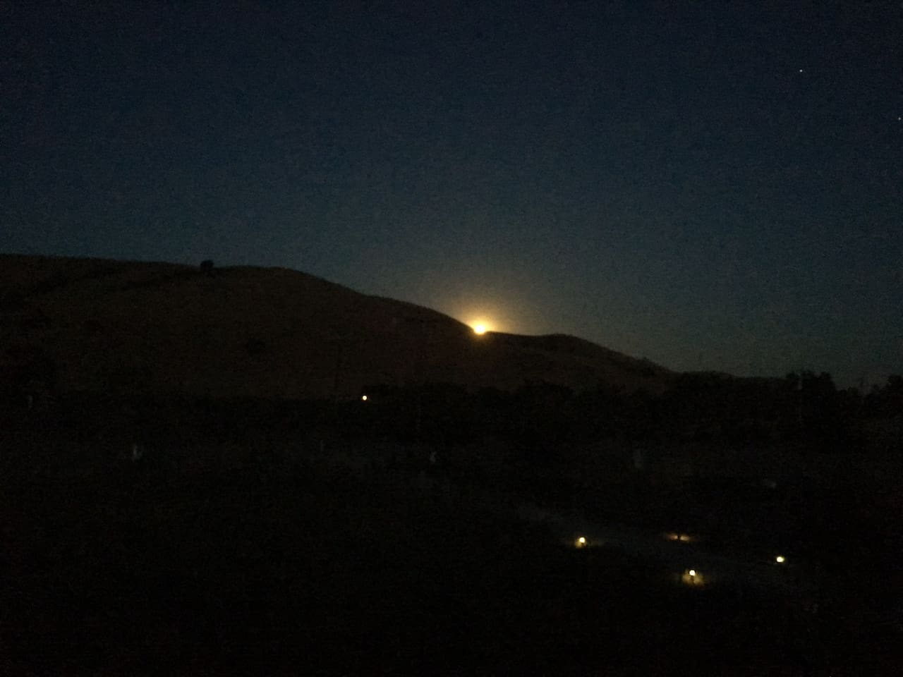 Moonrise from the front patio
