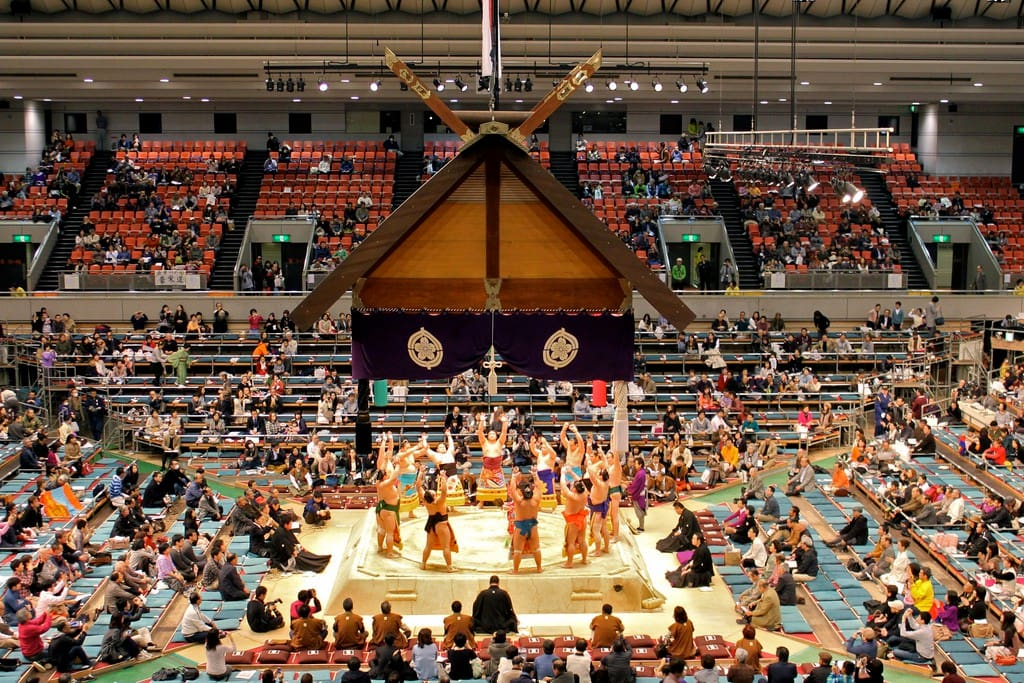 Ryogoku is the birthplace of Sumo. There is a Sumo hall nearby