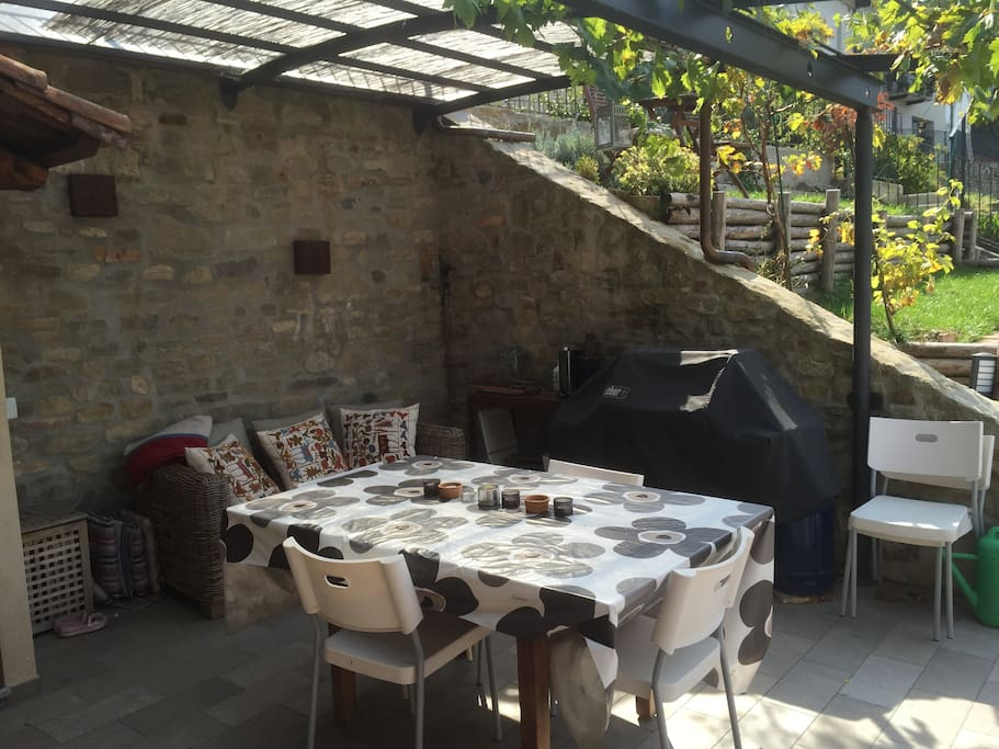 Enjoy the large outdoor terrace equipped with BBQ