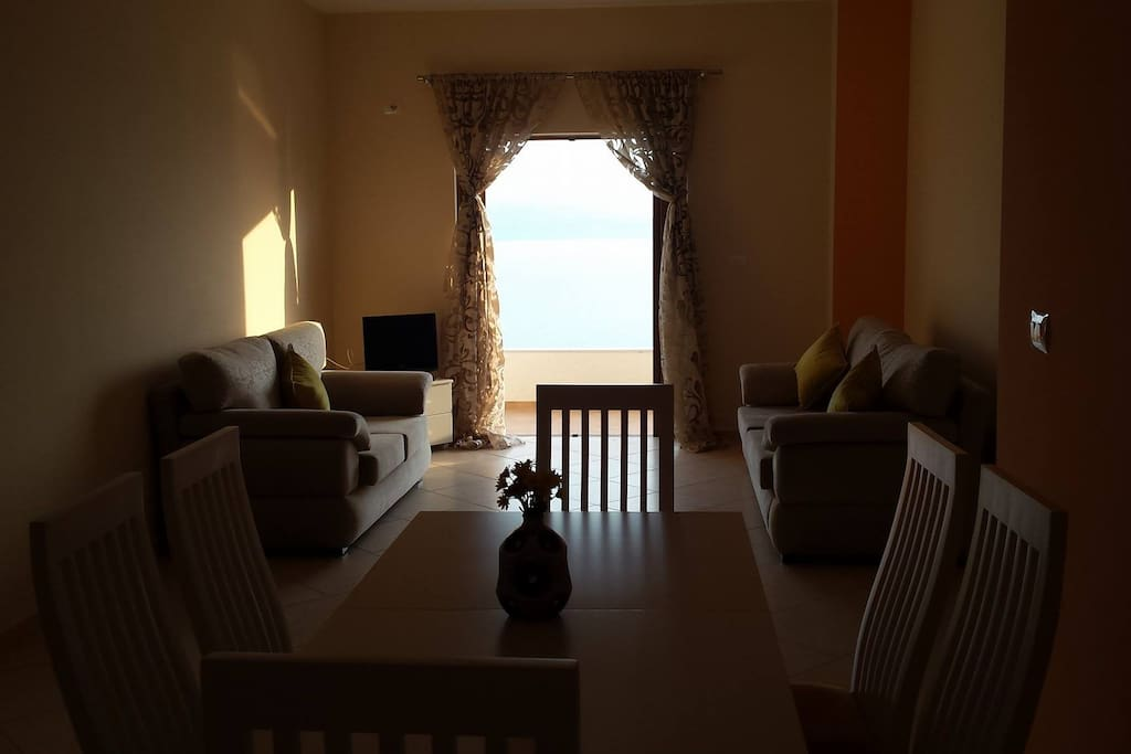 sea view living room ( double bed couch)