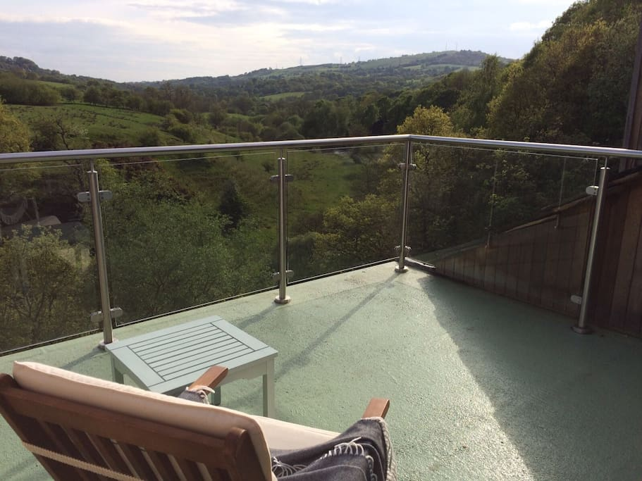 Spectacular roof terrace is a real sun trap, panoramic views across the beautiful countryside