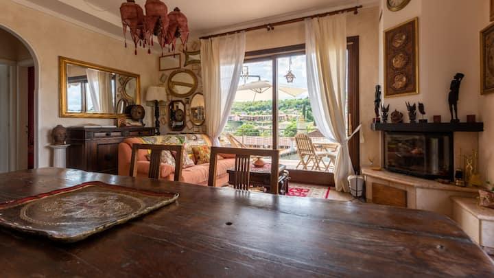 Sogno d'oriente: casa con vista Padenghe Sul Garda