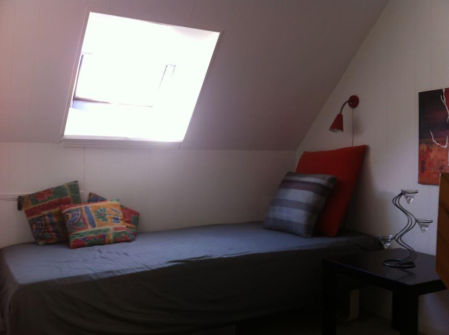 bedroom in the open area on first floor