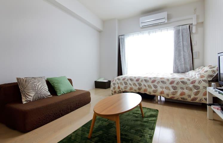 1 Bedroom Apt 1min>STA 1minbyTrain>NAMBA! WiFi