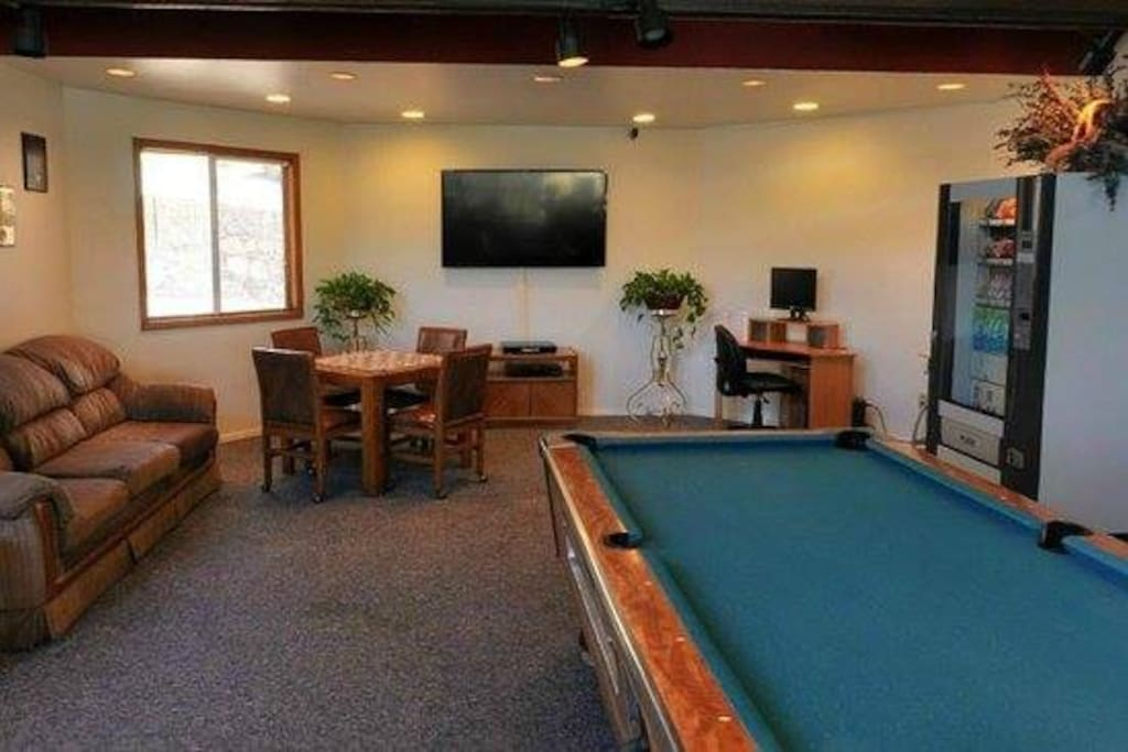 Pool table and coffee/snacks in Club House