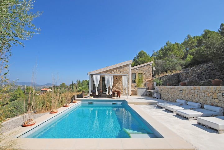 PUIGFERRER - Country house with pool and panoramic views in Selva