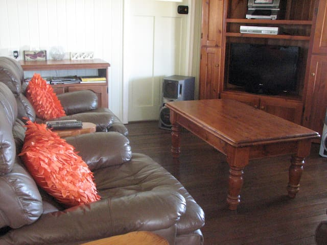 Comfortable 3 seater couch and 2 recliners.