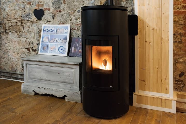 If you are coming for a winter getaway, relax and stay cosy by the pellet heater!