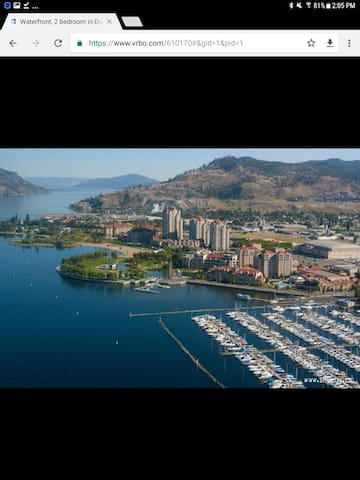 Luxury lakefront Condo on Okanagan Lake.