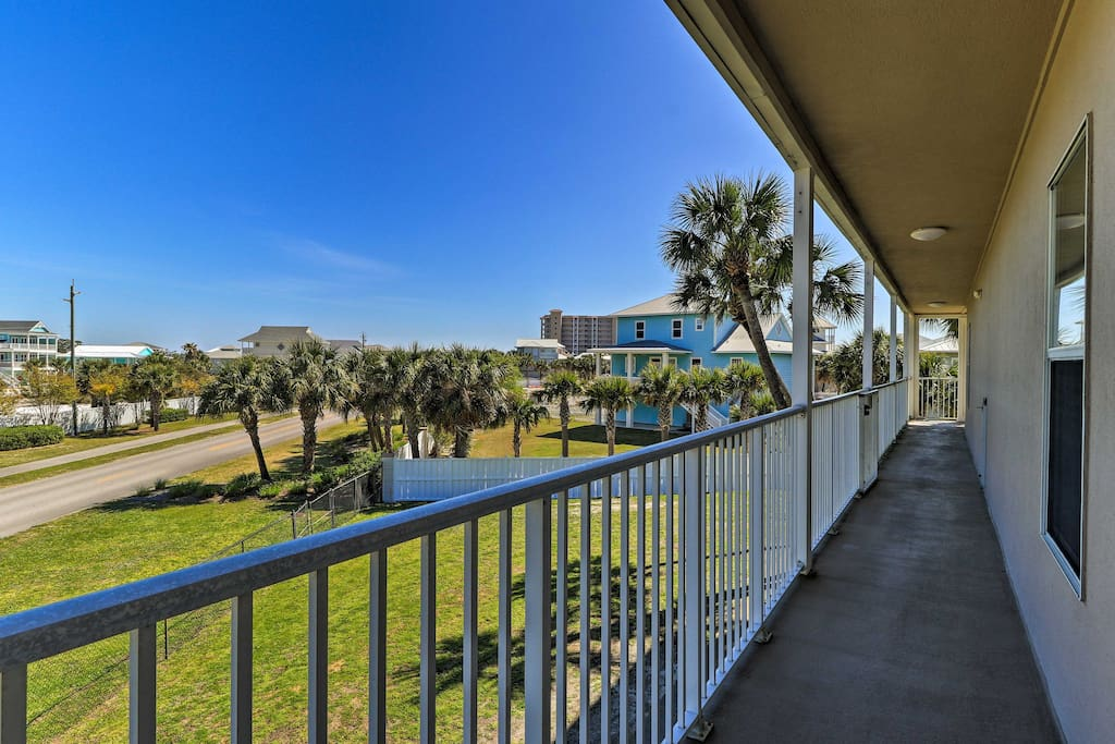 Located in Pensacola, this home for 8 is private and beautiful.