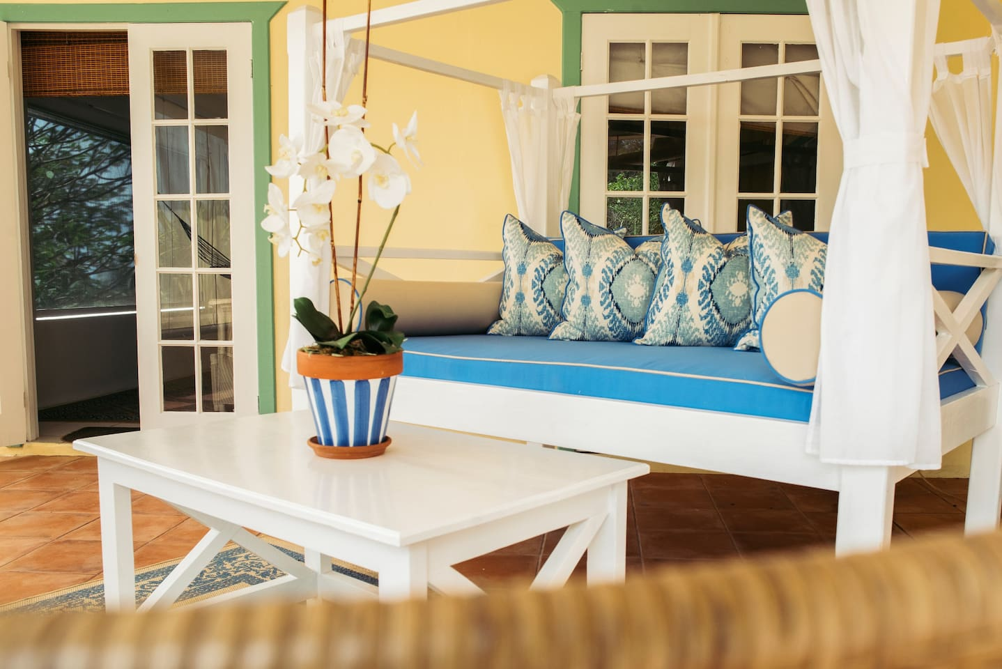 Daybed on Covered Patio