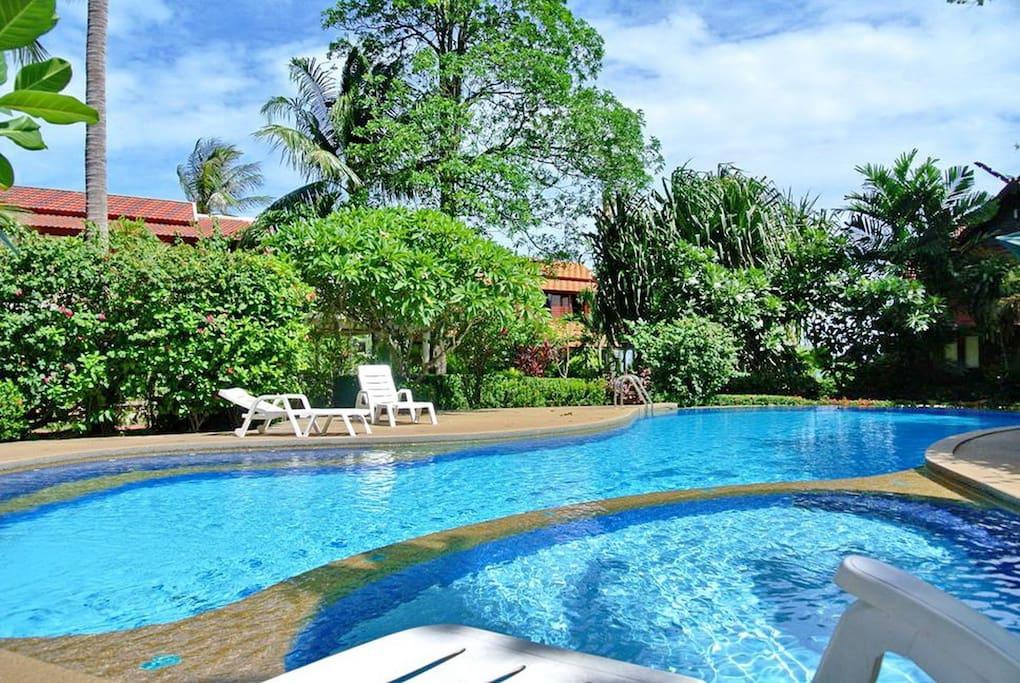 Resort pool next to the villa.