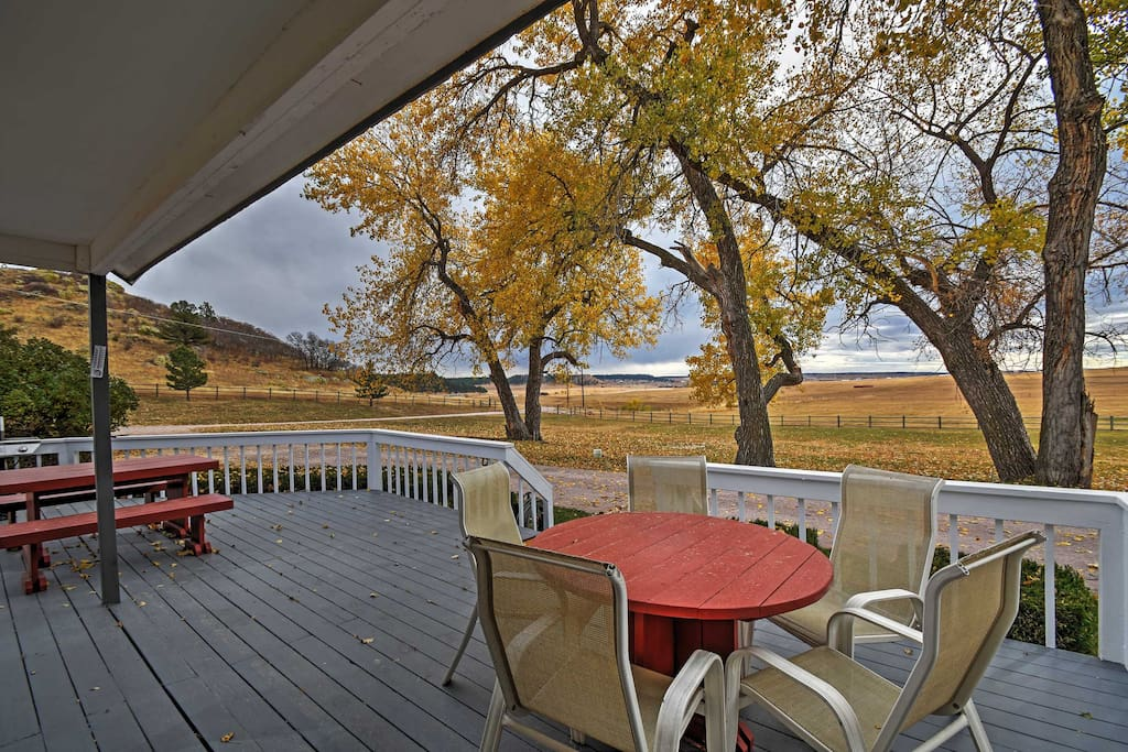 Look forward to sipping your  morning coffee on the spacious deck overlooking the valley.
