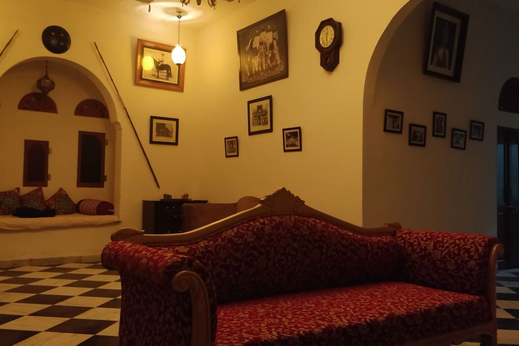 it's an amazing heritage property with pure nature and amazing view only 400 minters from Jaipur-Agra highway