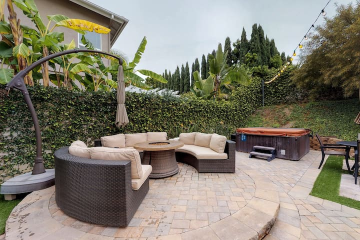 Dog-friendly home w/ hot tub, firepit, pool table & more - close to the beach!
