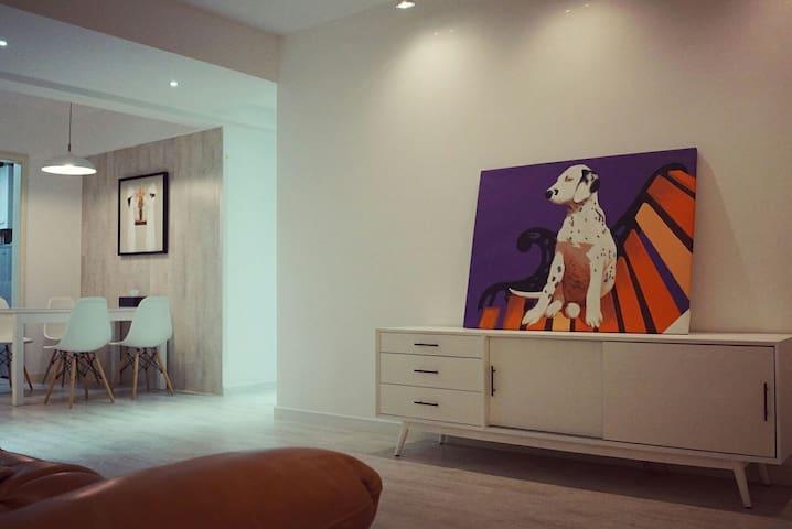 巨幅幕布北欧风公寓,1间卧室仅需要225元/晚,2间285元/晚,3间365元/晚,均为整套公寓。 - Zhenjiang Shi - Lägenhet