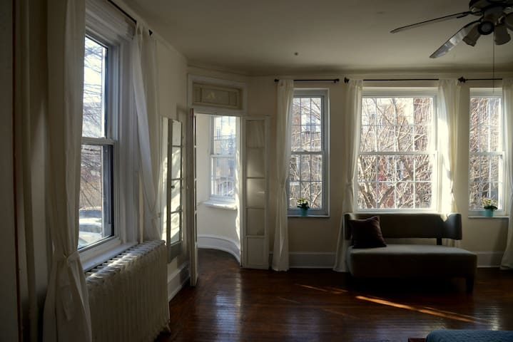 Entire Floor! Two bedrooms. Living room. Location!