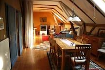 Ländlich idyllische Kutscherwohnung an der Elbe