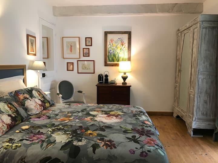 Chambre d'hôte au jardin dans mas provençal