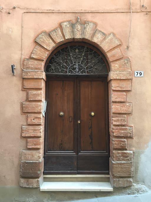 Door to apartment building