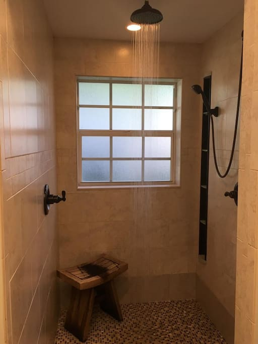 A Rain Shower & a Hand held for the Master Bedroom