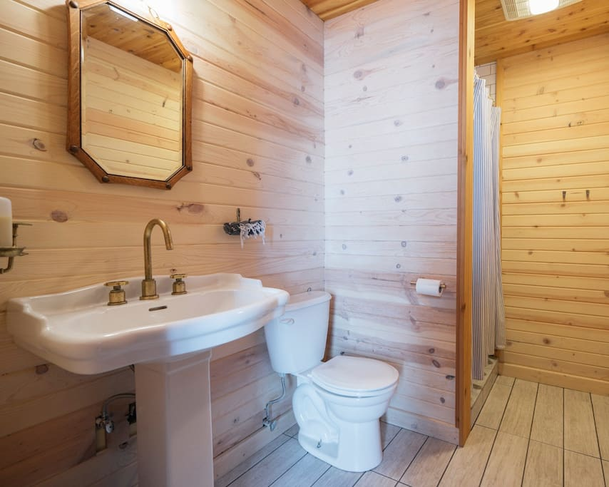 the private bathroom in room 8