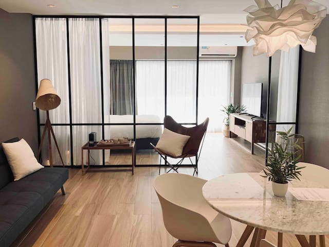 Contemporary Recoleta studio surrounded by art