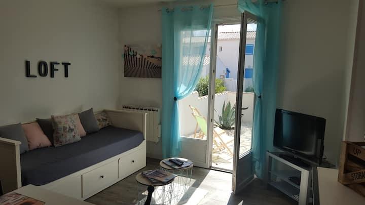 Appartement en rez-de-jardin proche plage