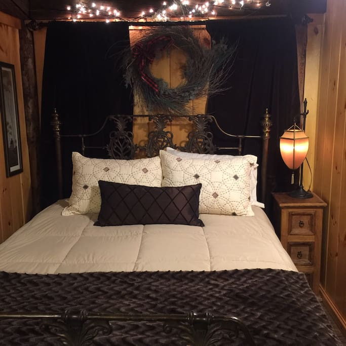 Very comfortable bed, one of our guests said it was the most comfortable AIRBNB bed they'd ever slept in!
