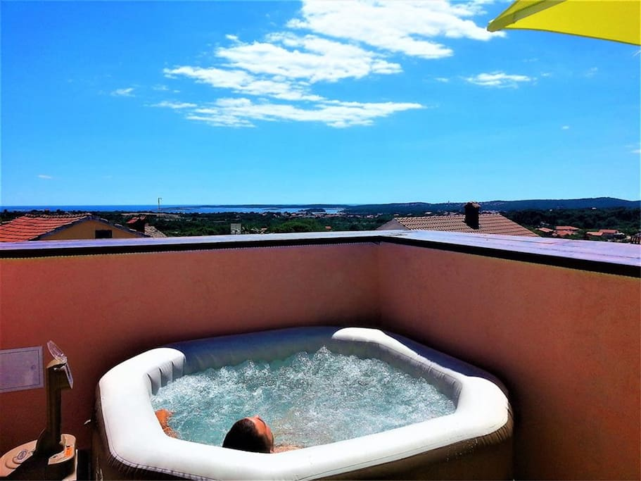 Roof terrace & Open air pure spa bubble