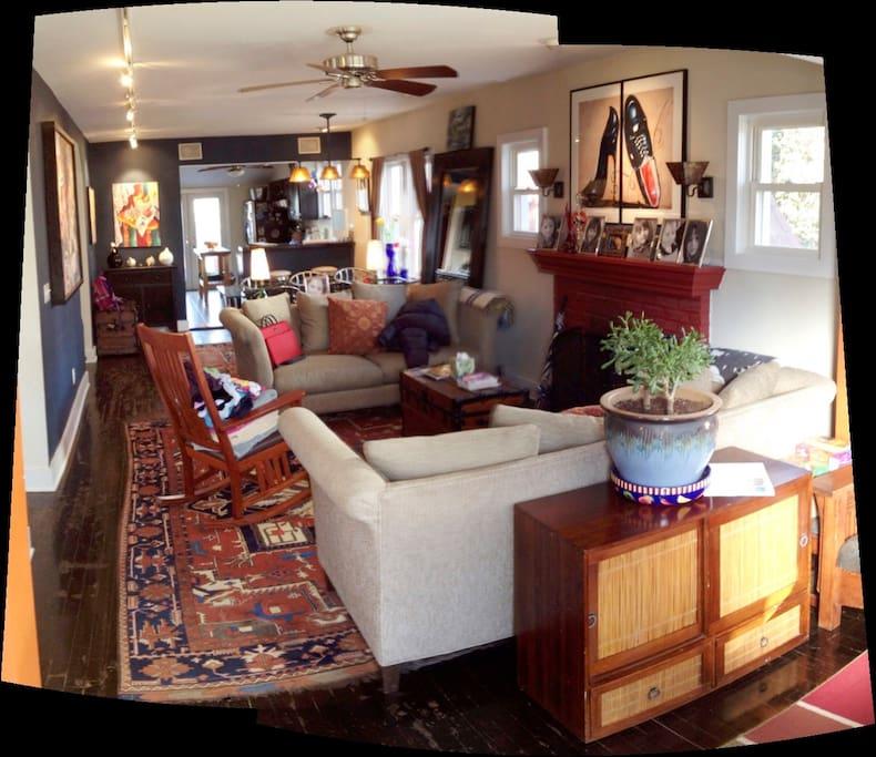 Main room. Open floor plan.