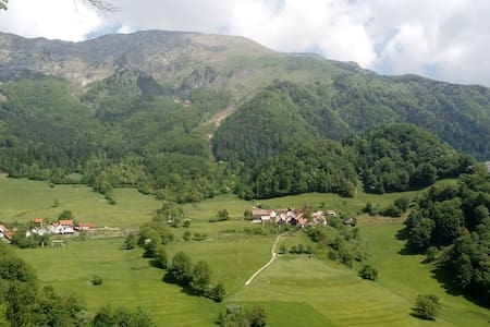 Peaceful village among the mountains. (8 guests)