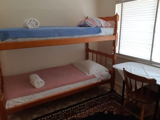 Bunk room in comfortable and cool house