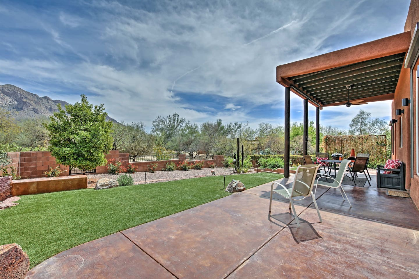A desert oasis awaits at this 3-bed, 2-bath vacation rental home in Tucson!
