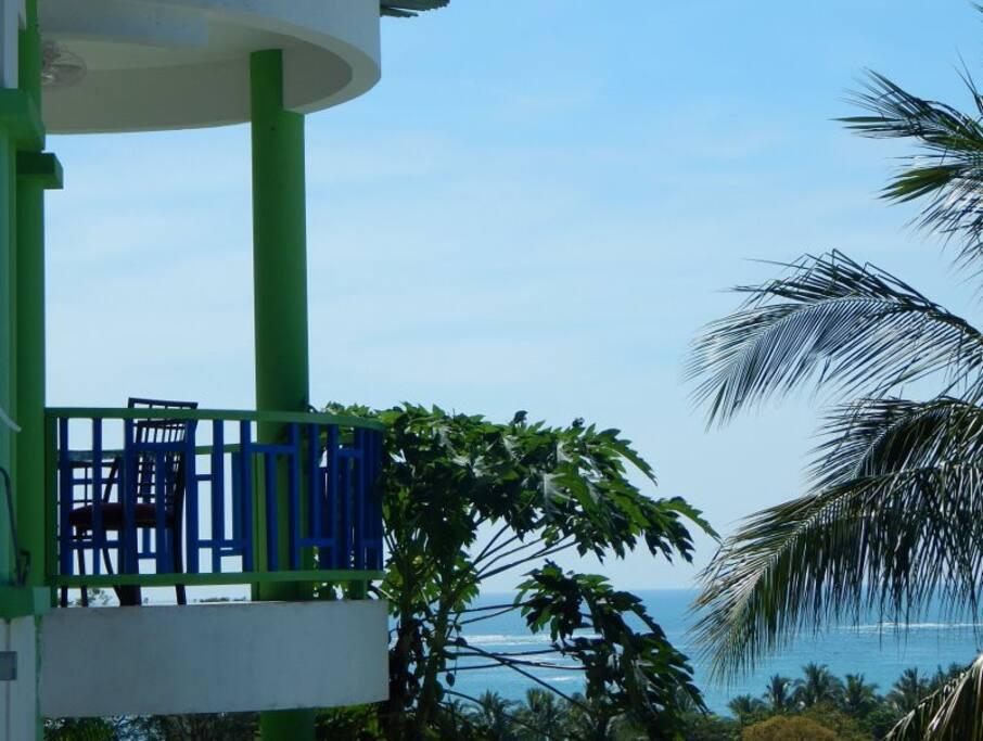 Balcony - Panoramic view of ocean.