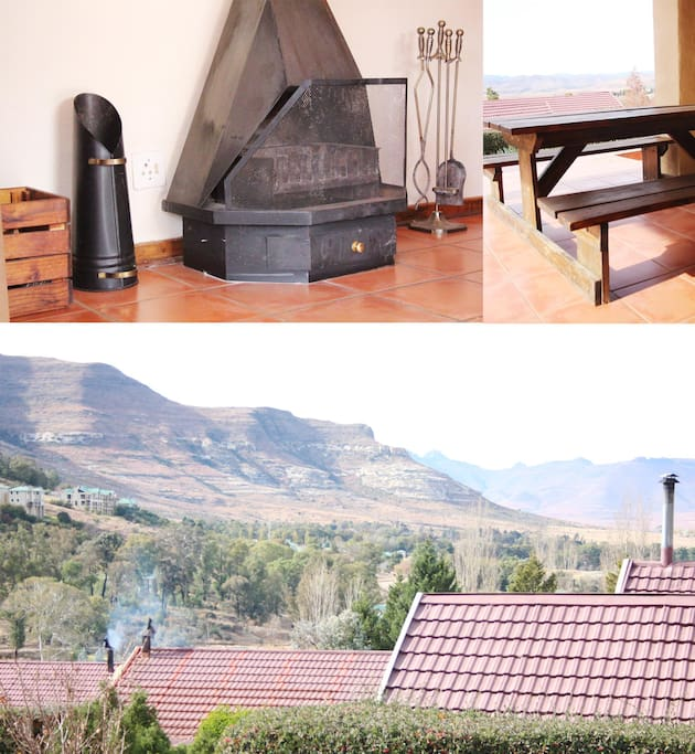 Beautiful views of the surrounding mountains. The house is equipped with a fireplace for those chilly winter days!