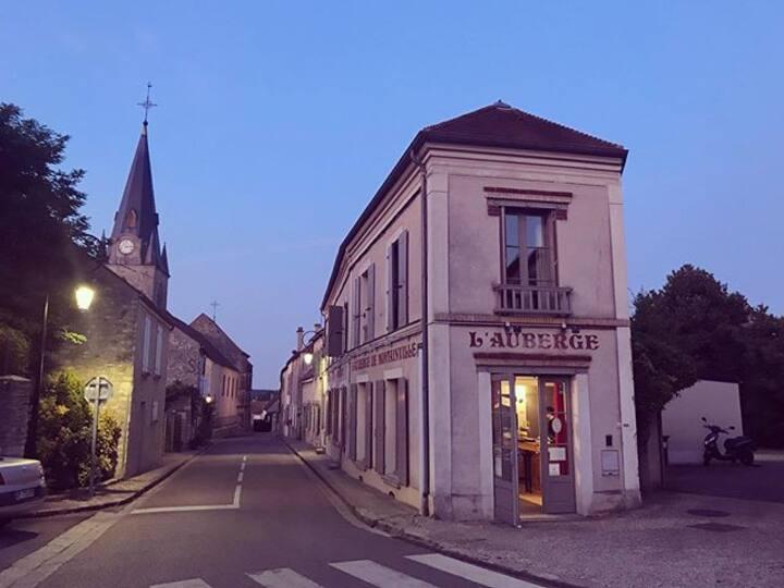 Chambre Double à l'Auberge de Montainville