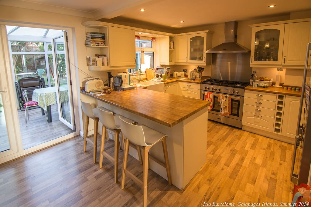 Open plan kitchen, which you have access to