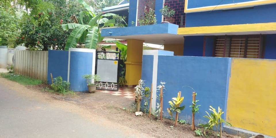 BLUE HOUSE near SOUTH CLIFF, PAPANASAM BEACH
