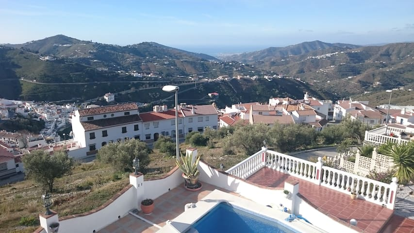 The view from the Gallery room terrace down to Torre del Mar coastline.