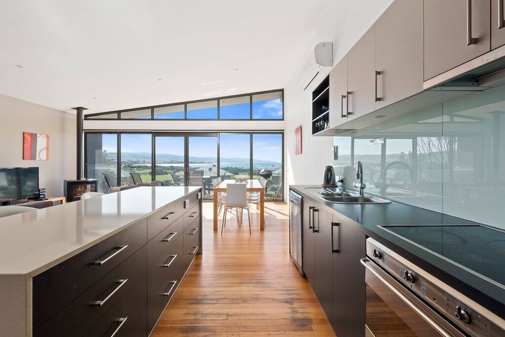 Modern kitchen with oven, dishwasher and microwave