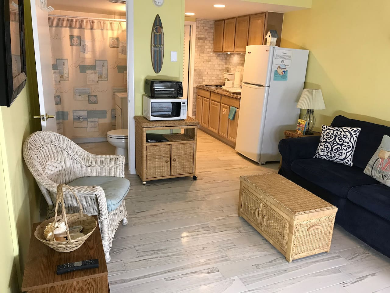 Great little condo with the beach right outside our door!