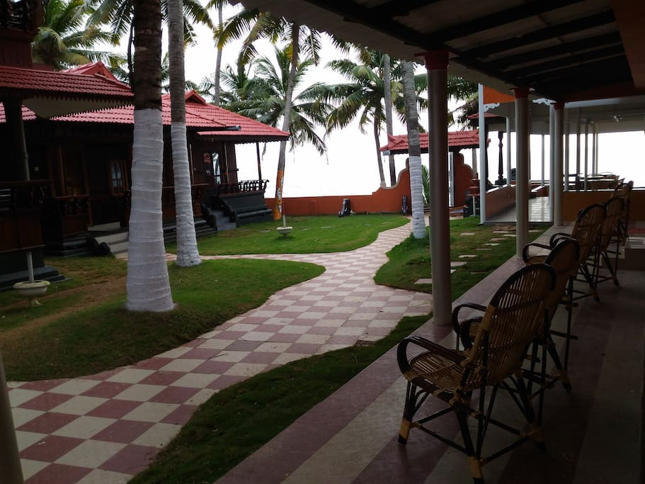 Courtyard - Black Beach Resort,Varkala