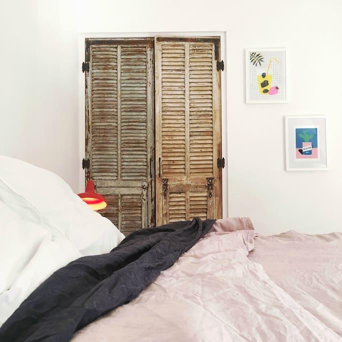 chambre 9 draps en lin lavé - décoration