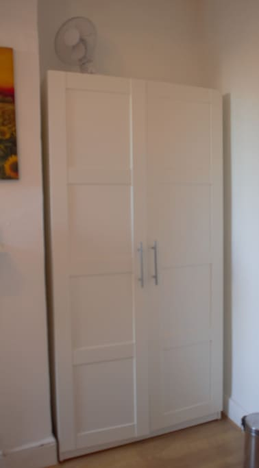 Wardrobe with plenty of hanging space