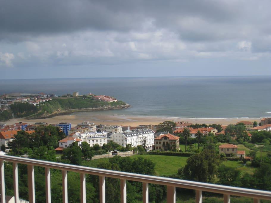 vistas desde la terraza principal