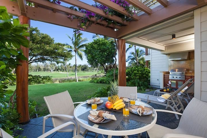 H1 Waikoloa Beach Villas.  BBQ Grill on the lanai.  Three Bedrooms , Three Bathrooms