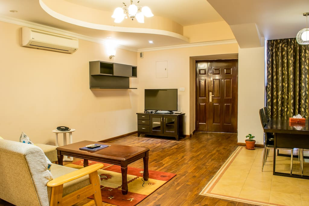 """Living and Dining Area, with 42"""" TV"""
