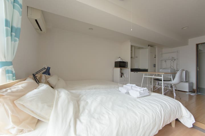 #16 Within 20 mins from Kyoto St. Apt+WIFI+2bikes - Kyoto-shi, Nakagyo-ku - Apartment