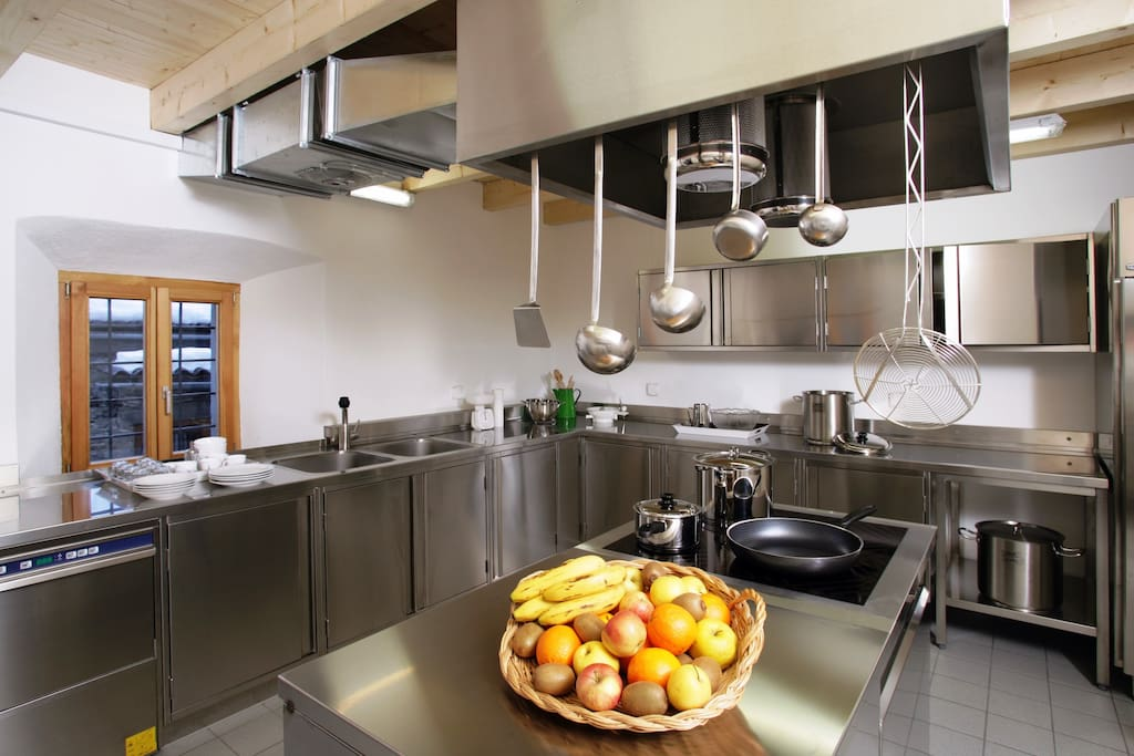 Professional fully-stocked kitchen for guest use!
